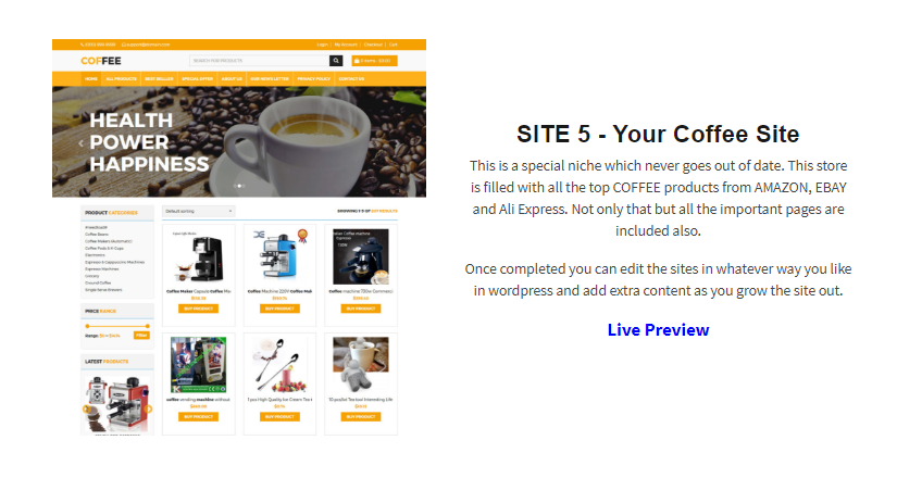 Custom Built Affiliate Stores PRO Package by Kevin Byrne