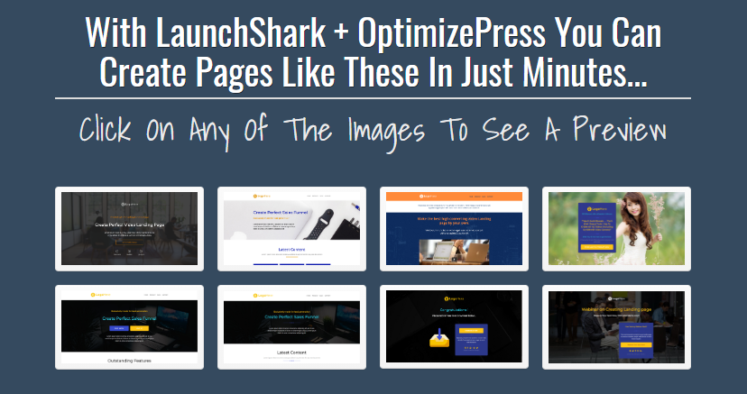LaunchShark Sales Funnel Templates Suite WSO by Tony Earp