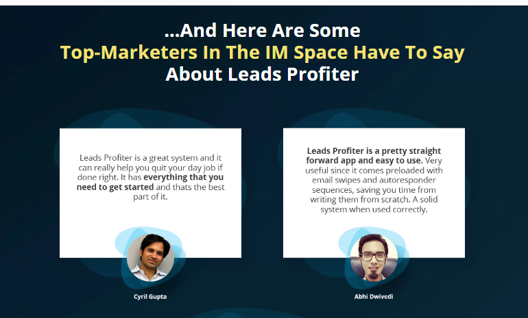 LeadsProfiter Pro Lead Software & OTO Upsell by Victory Akpos Review