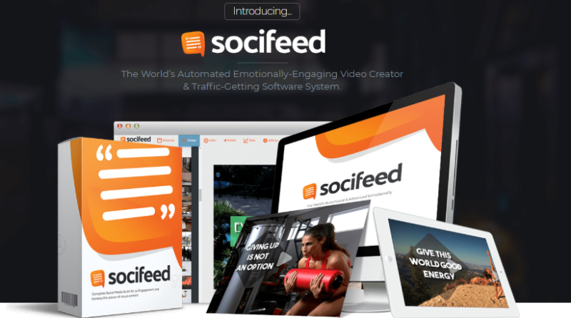 SociFeed Pro Video Quote Maker & OTO by Brett Ingram - Best Video Quote Maker Software & Traffic System to Instantly Create High Engagement Quote Video with Automated Mass Broadcasting & Distribution