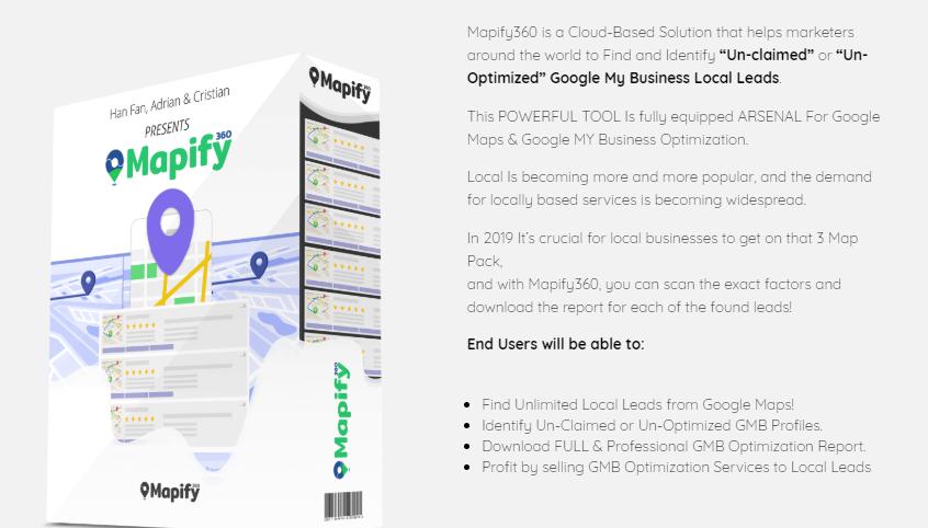 Mapify360 Google Maps Software & OTO Upsell by Han Fan