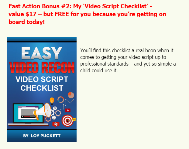 Easy Video Recon WSO System by Loy Puckett