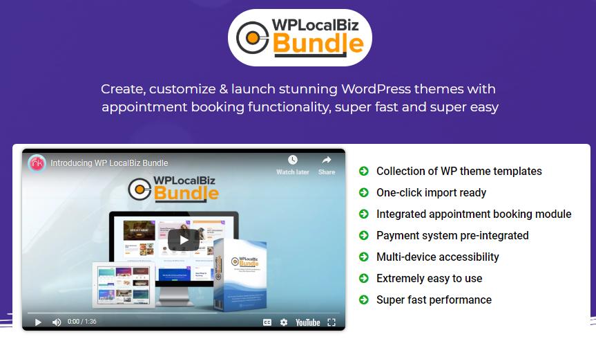 WP LocalBiz Bundle Unlimited Theme & OTO Upsell