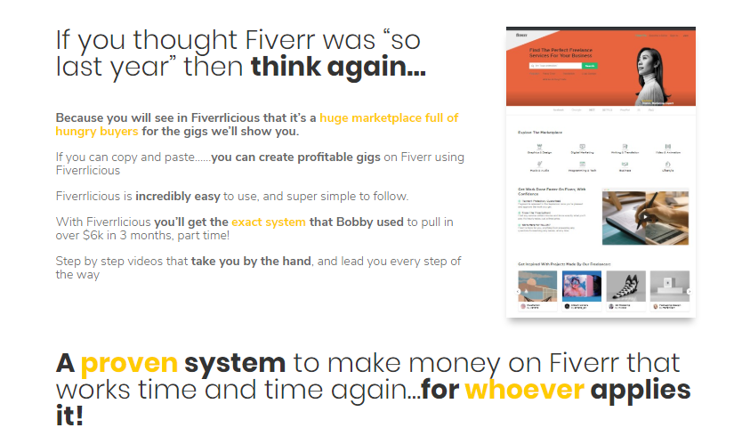 Fiverrlicious WSO System by Bobby Dolcee