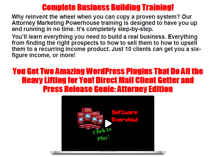 Attorney Marketing Powerhouse WSO System by Lee Cole
