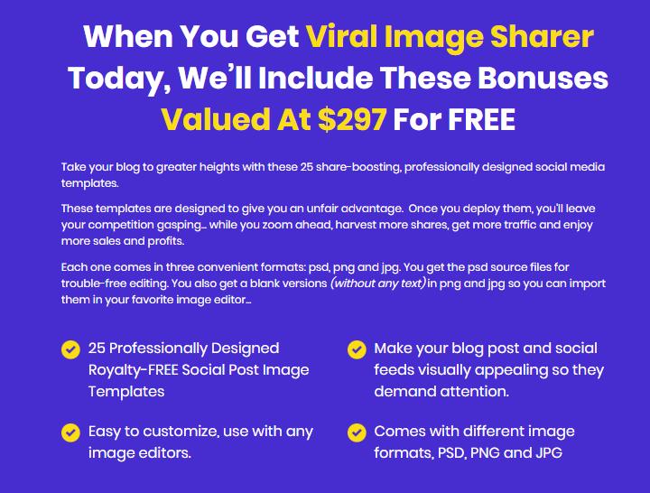 Viral Image Sharer Software System & OTO by Sam Robinson