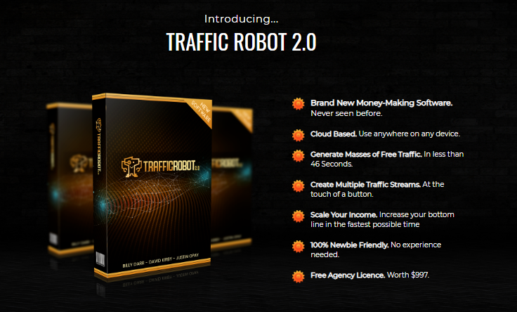 Traffic Robot 2.0 Pro Software & OTO by Billy Darr