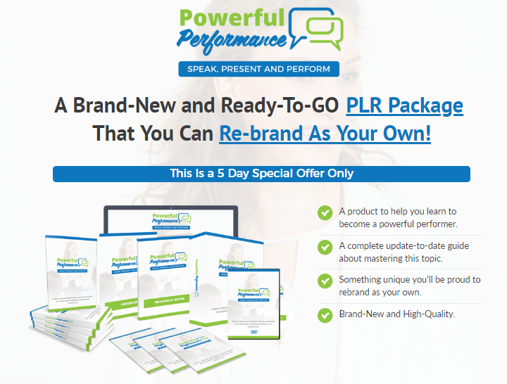 Powerful Performance PLR Package by PLR Lobby