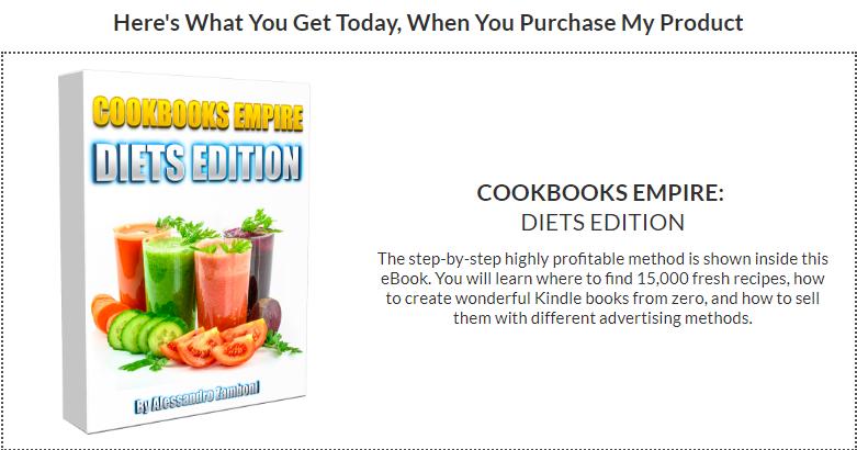 Cookbooks Empire Diet Edition PLR by Alessandro Zamboni