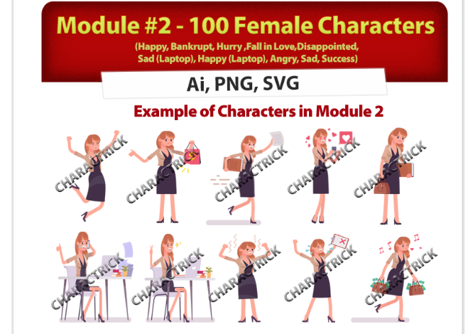 Charactrick Characters Design Package by Ivana The