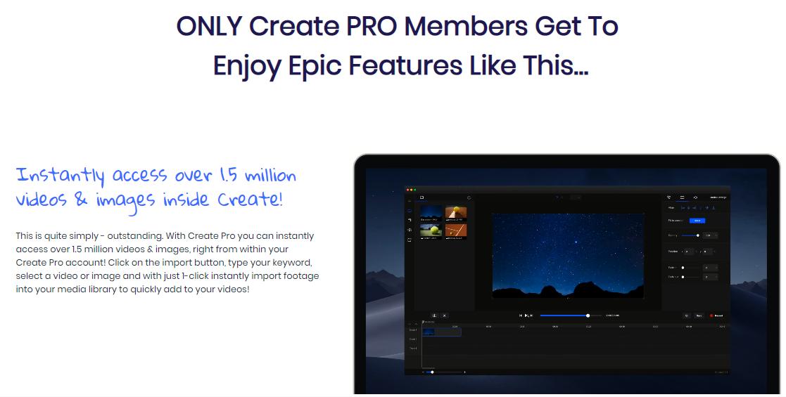Create PRO by Vidello Edition Upgrade OTO