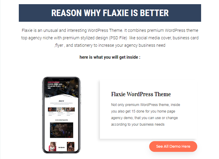 Flaxie Agency WordPress Theme by Fachrul Stream
