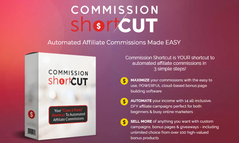 Commission Shortcut PRO Software & OTO by Glynn Kosky
