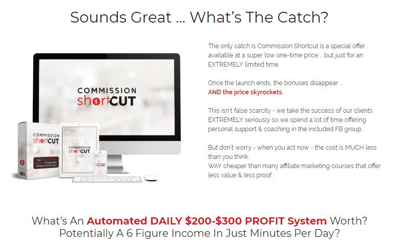 Commission Shortcut PRO Software & OTO by Glynn Kosky