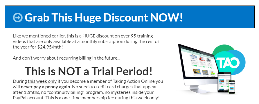 Taking Action Online Training System by Jaykay Dowdall