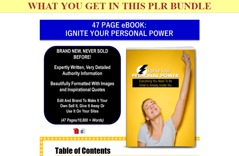 Ignite Your Personal Power PLR Pack & OTO by JR Lang