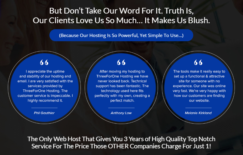 Richard Madison Three For One Hosting Unlimited Package