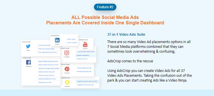 AdsCrisp Video Ads Creation Software System & OTO