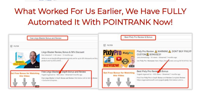 PointRank Live Video Software & OTO by Tom Yevsikov