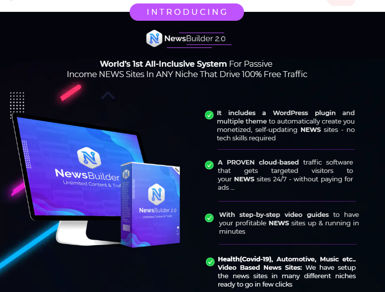 NewsBuilder 2.0 Pro Plugin Software & OTO by Gee Sanghera