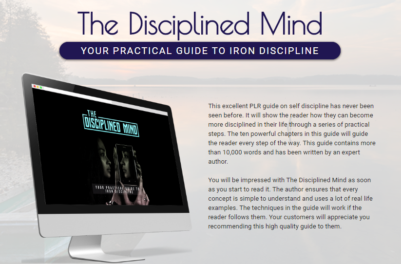 The Disciplined Mind PLR Package by Sajan Elanthoor