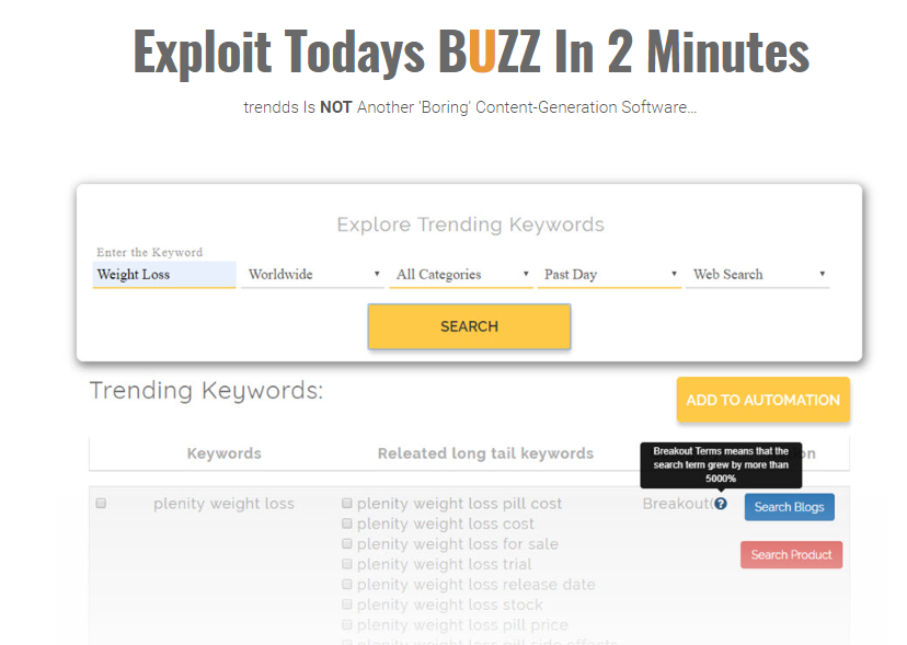 Trendds Viral Content Software System & OTO by Mark Bishop
