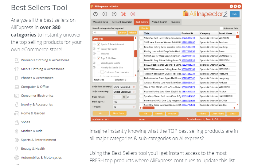 Ali Inspector V2 AliExpress Pro Software & OTO by Dave Guindon