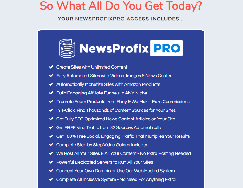 NewsProfixPro Software OTO Upsell by MoshBari