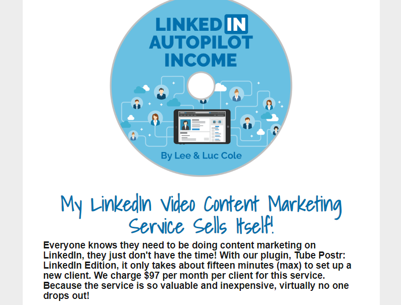 LinkedIn Autopilot Income System OTO Upsell by Lee Cole