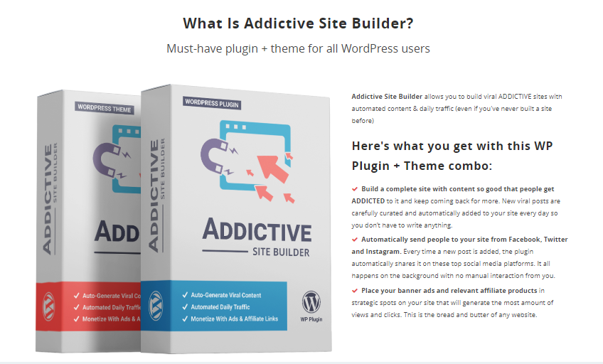 Addictive Site Builder OTO Upsell Software