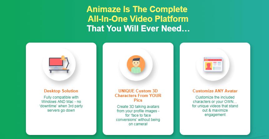 Animaze Avatar Video OTO Upsell Software by Misan Morrison