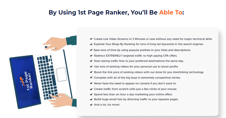 1st Page Ranker Software OTO Upsell by Ali G