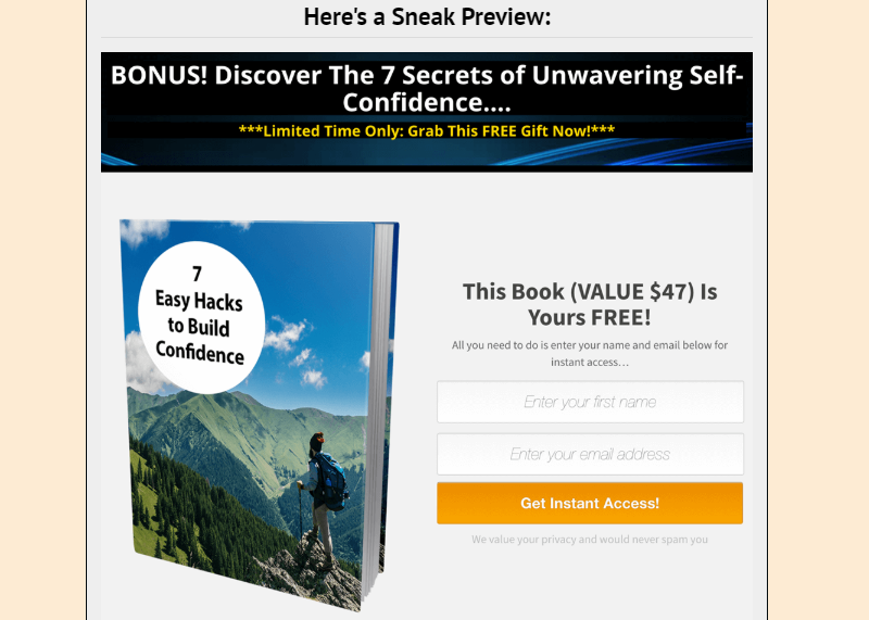 Unshakeable Confidence PLR OTO Upsell by Yu Shaun