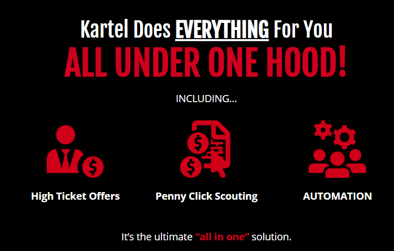 Kartel Software OTO Upsell by Jono Amstrong