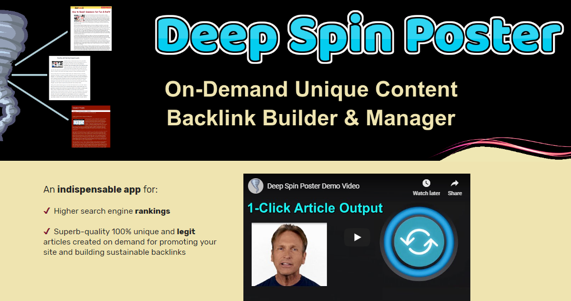Deep Spin Poster OTO Upsell Review