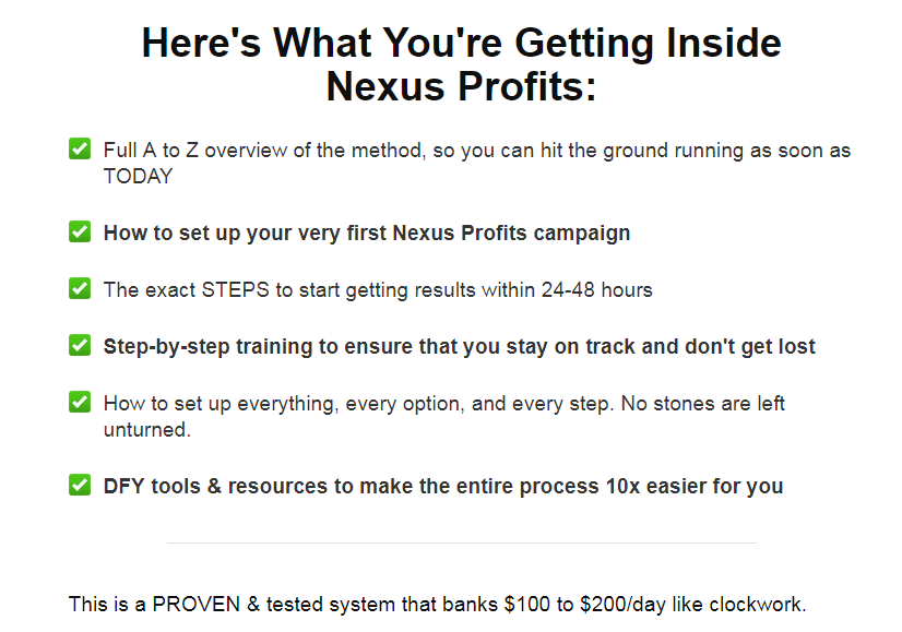 Nexus Profits Training OTO Upsell Review