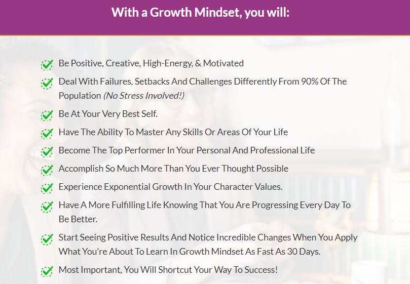 The Growth Mindset OTO Upsell