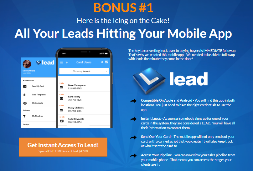 LEAD App Software Review & OTO Upsell by Chad Nicely