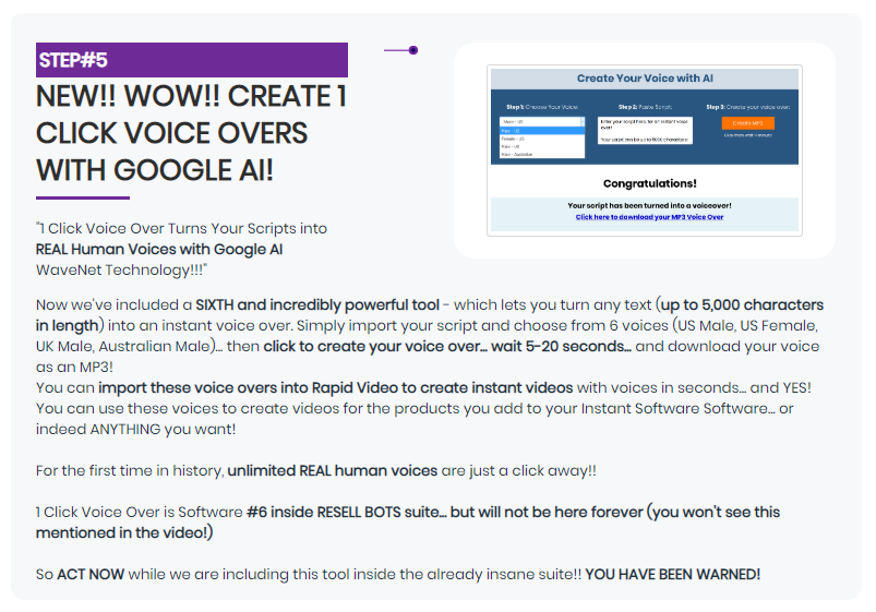 Resell Bots & OTO Upsell by Rich William
