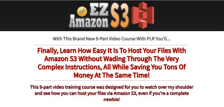 EZ Amazon S3 PLR Video OTO Upsell Review