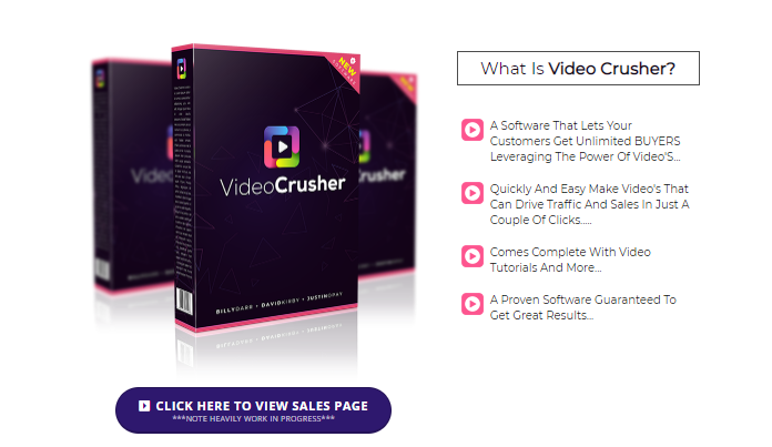Video Crusher App OTO Review & Upsell by Billy Darr