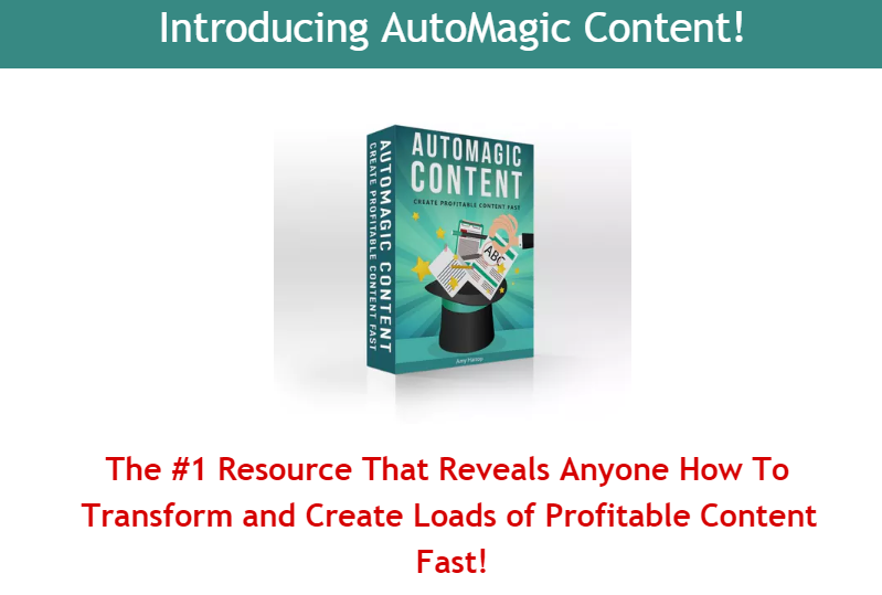 AutoMagic Content Review & OTO Upsell by Amy Harrop