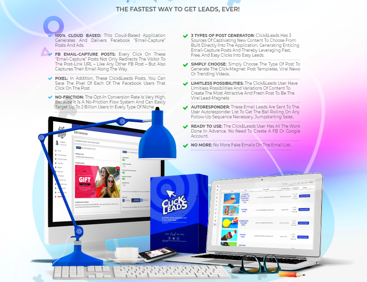 Click&Leads App Review & OTO Upsell by Ariel Sanders