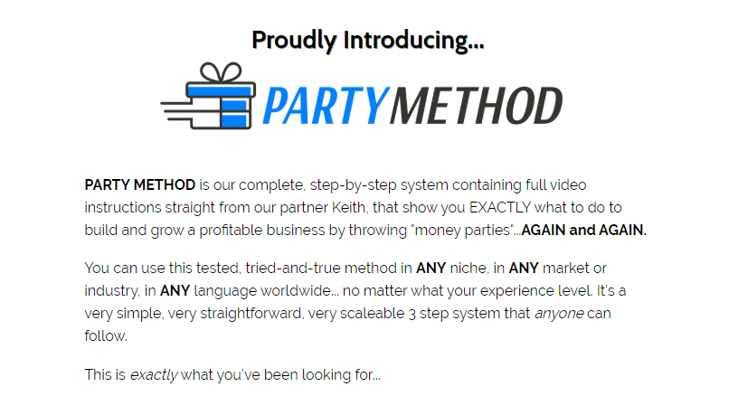 Party Method Training OTO Upsell Review by Matthew W Rhodes