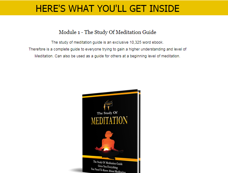 The Study Of Meditation PLR Bundle OTO Upsell Review