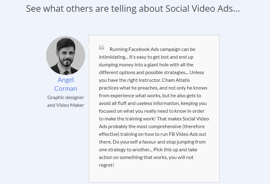 Social Video Ads Training OTO Upsell Review By Cham Altais