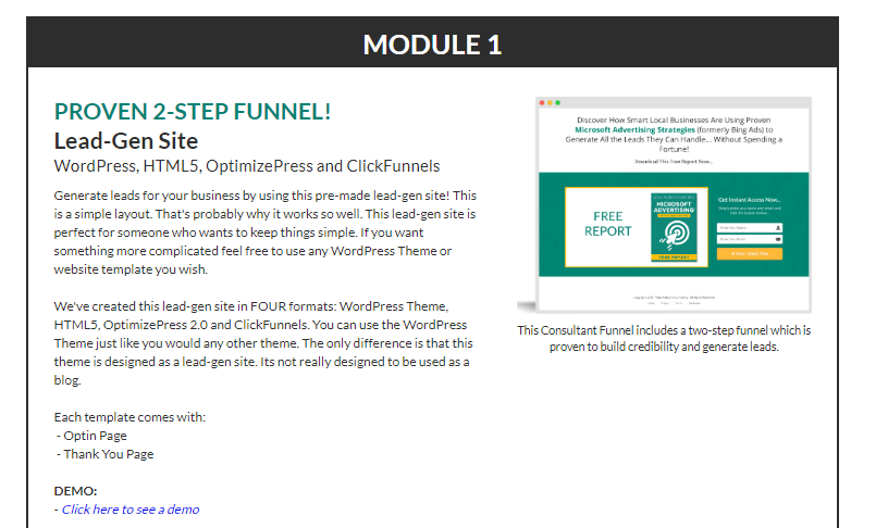Consulting Funnel: Microsoft Advertising Secrets PLR & OTO Upsell by PDG Laughlin
