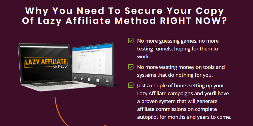 Lazy Affiliate Method System & OTO Upsell by Kevin Fahey