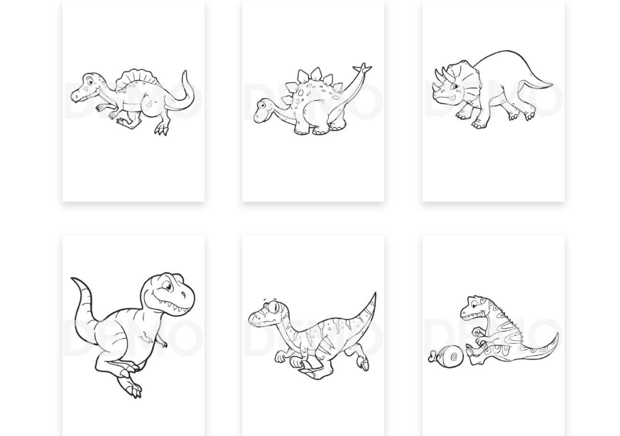 Dino Coloring Pack PLR & OTO by Pixelcrafter