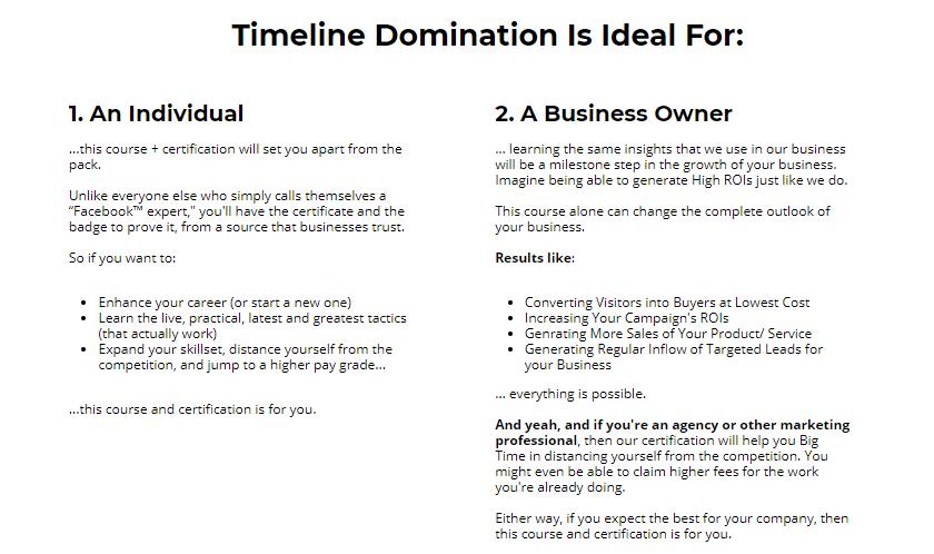 Timeline Domination Training System & OTO by Saurabh Bhatnagar